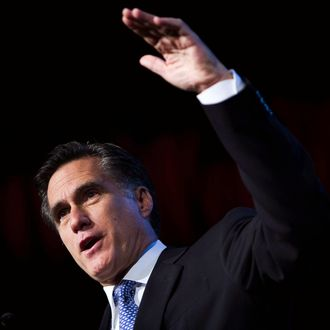 Massachusetts Governor Mitt Romney speaks during the Washington Briefing of the 2006 Values Voter Summit September 22, 2006 in Washington, DC. The event was hosted by The Family Research Council (FRC).