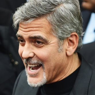 George Clooney Visits Former Homeless Workers At A Scottish Sandwich Shop