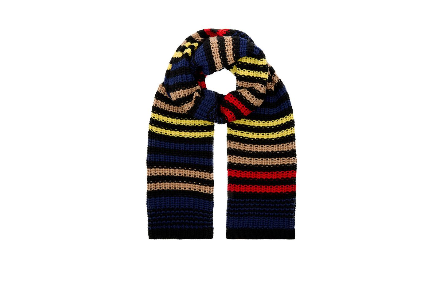 Sonia Rykiel Multi Knitted Chevron Stripe Scarf