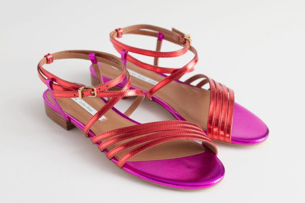 & Other Stories Metallic Gladiator Strappy Sandals