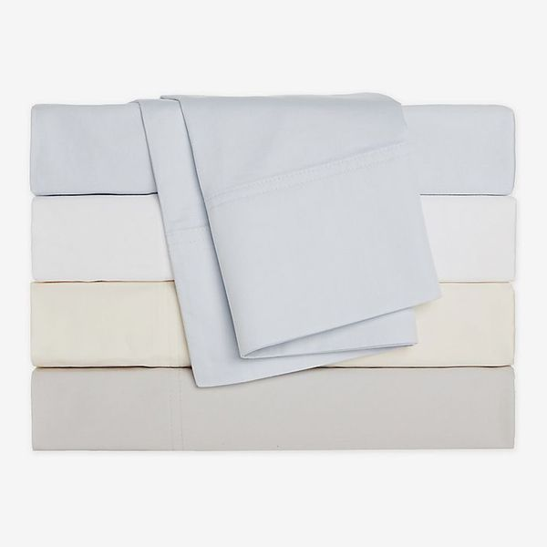 Nestwell Cotton Percale 400-Thread-Count Flat Sheet