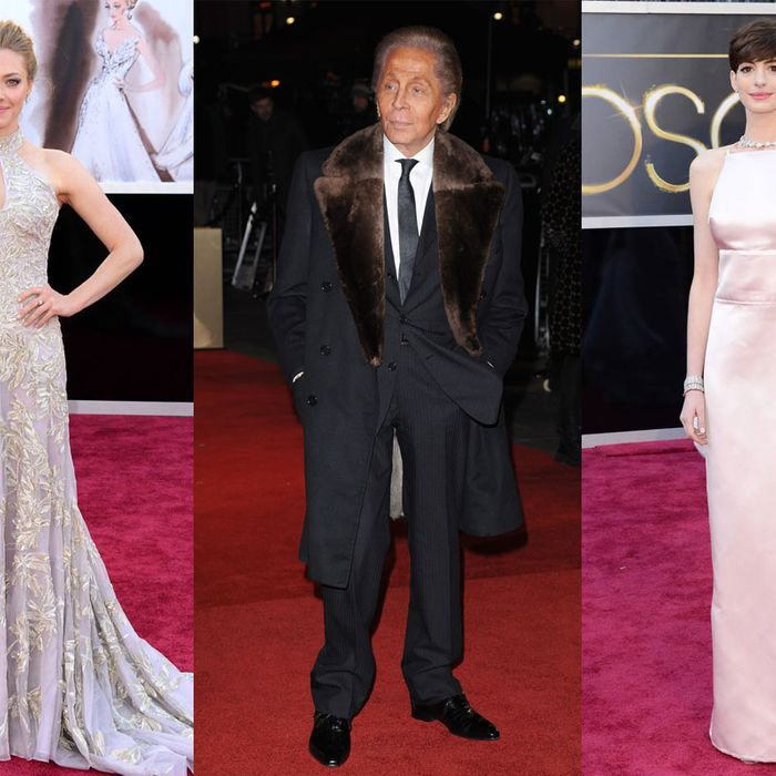 Seyfried, Valentino, and Hathaway.