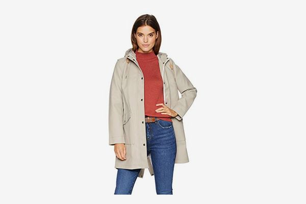 Levi's Women's Hooded Rubberized Faux-Leather Anorak