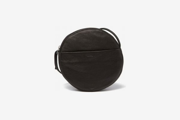 Baggu Circle Leather Purse in Black