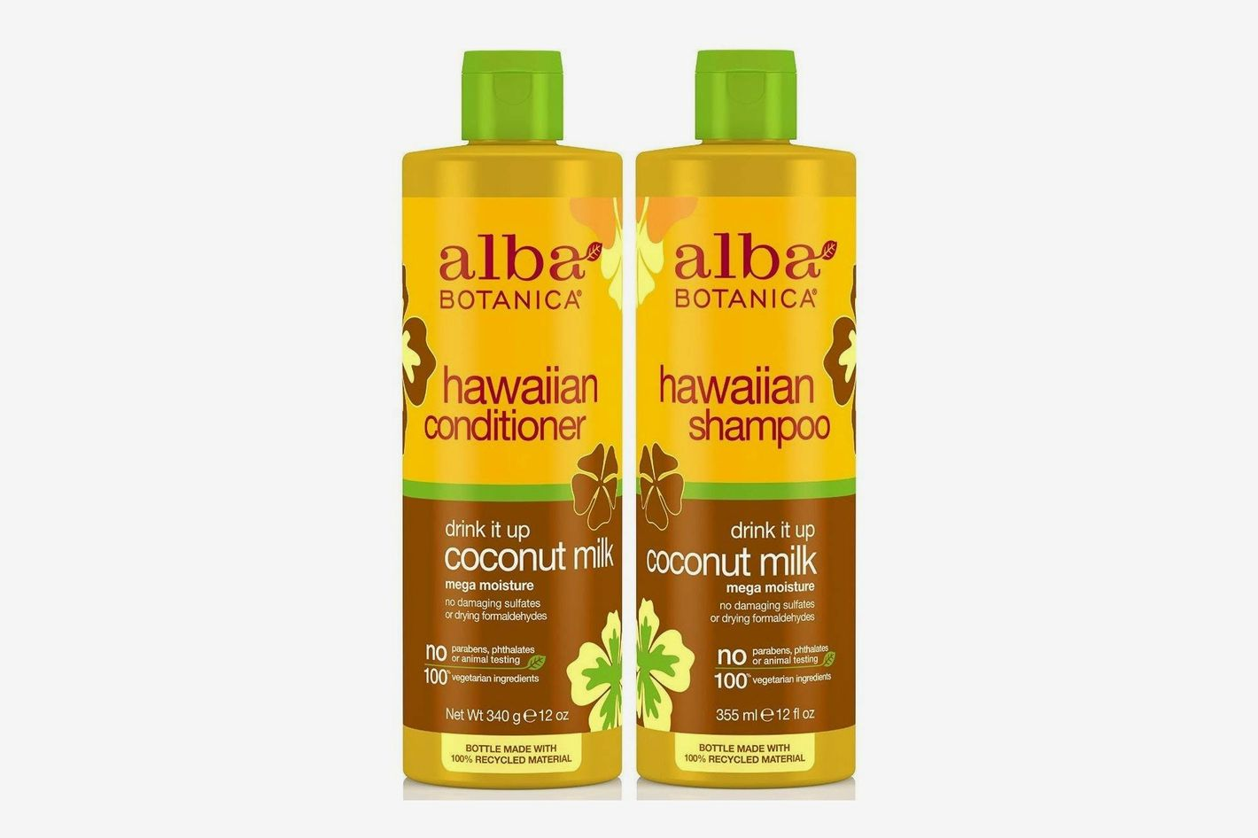 Alba Botanica Drink It Up Coconut Milk, Hawaiian Duo Set Shampoo and Conditioner