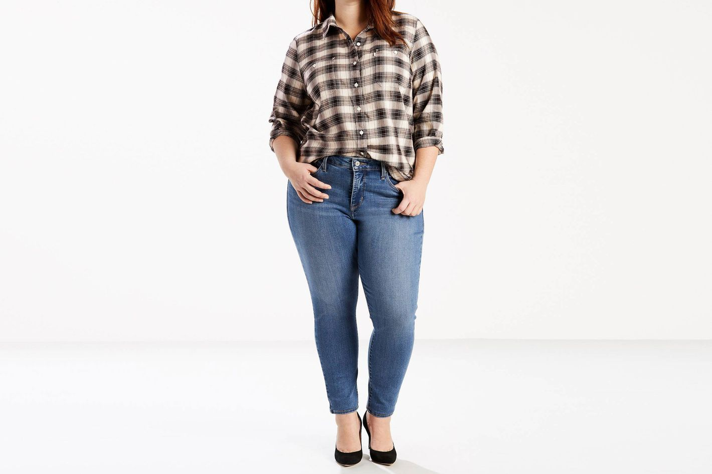 Levi 310 Shaping Super Skinny Jeans (Plus Size)