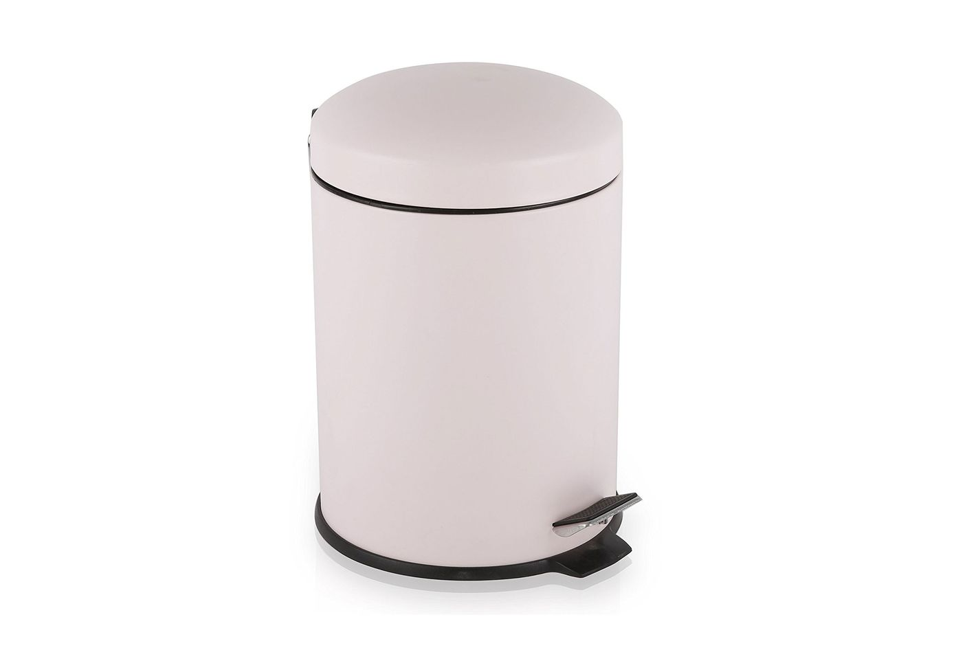 BINO Stainless Steel 1.3 Gallon / 5 Liter Round Step Trash Can