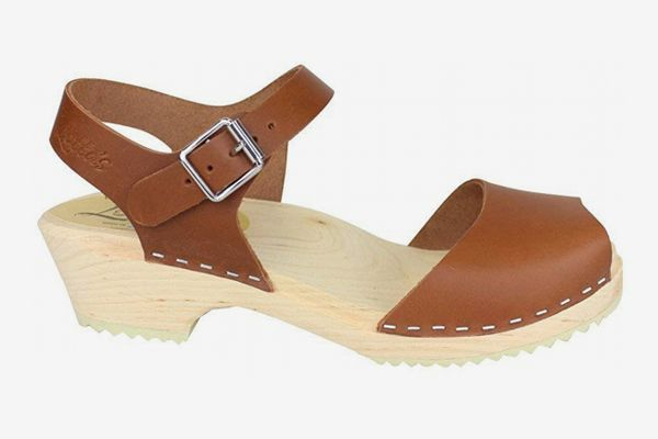 Lotta From Stockholm Low Wood Open Clogs in Tan