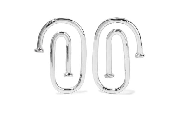JENNIFER FISHER Small Pipe silver-plated earrings