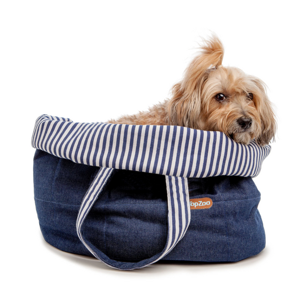 TopZoo Oval Bed Bag in Denim