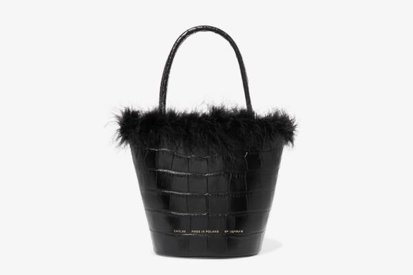 Chylak Feather Trim Bag
