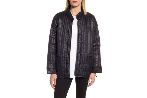 Eileen Fisher Side Tie Quilted Jacket