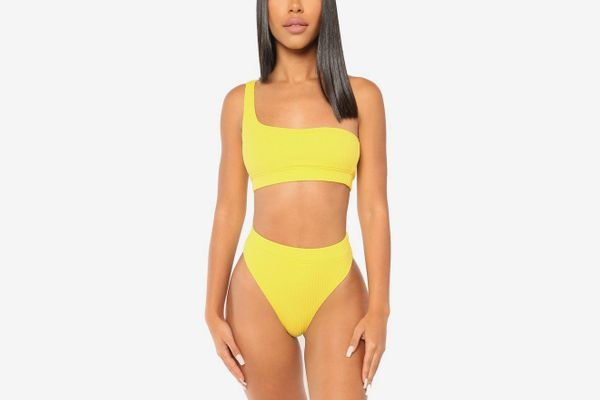 Icon Swim Plain and Simple Bikini in Yellow