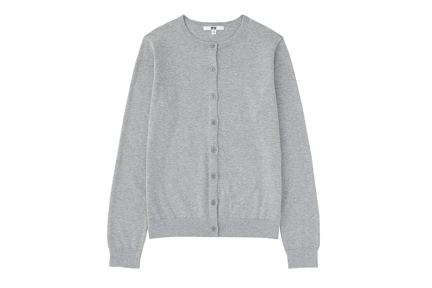 Supima Cotton Crewneck Cardigan