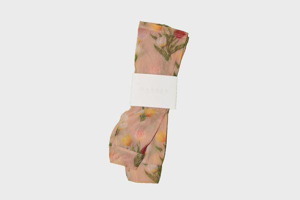 Darner Floral Mesh Socks
