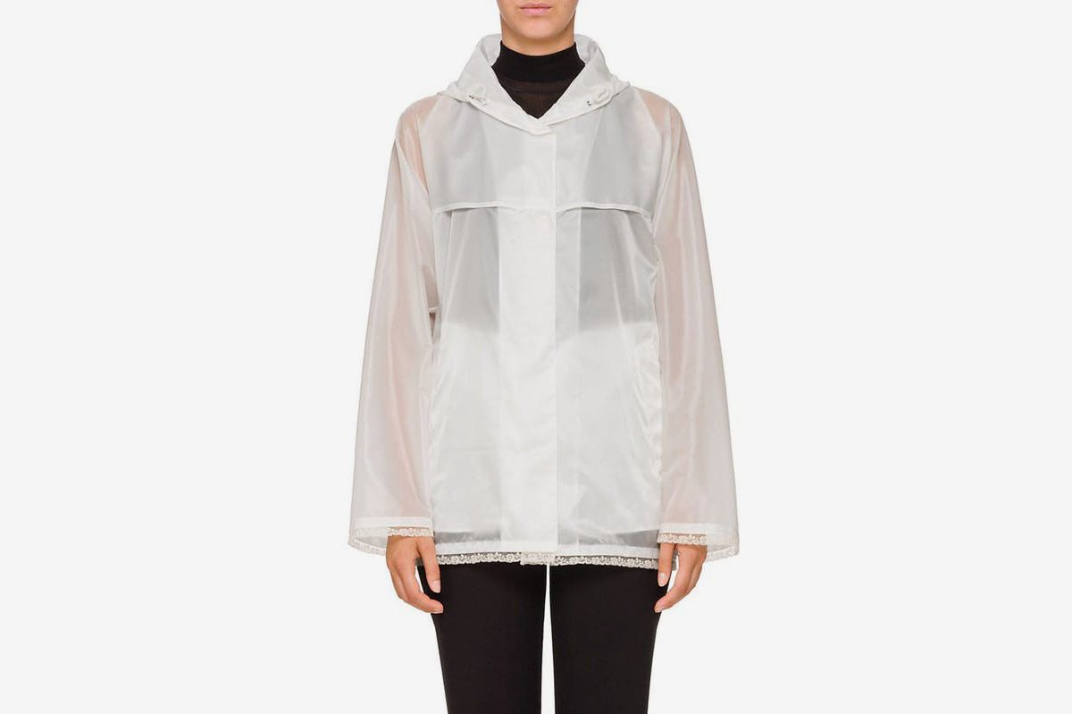 Prada Lace-Trimmed Raincoat