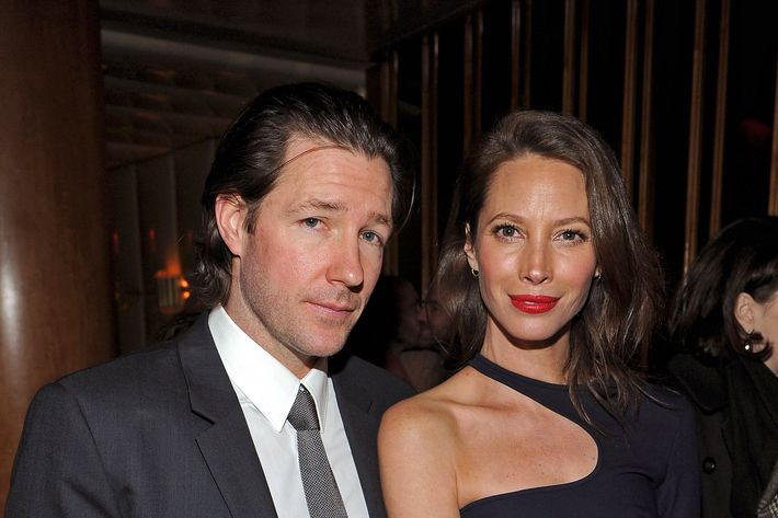 "Edward Burns and Christy Turlington attend the after party for the Cinema Society & People StyleWatch with Grey Goose screening of ""Friends With Kids"""
