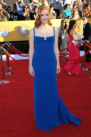 Jessica Chastain== 18th Annual Screen Actors Guild Awards== Shrine Auditorium, Los Angeles, CA== January 29, 2012== ?Patrick McMullan== Photo - ANDREAS BRANCH/PatrickMcMullan.com==