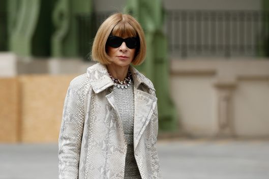 08 Jul 2014, Paris, France --- Editor-in-chief of American Vogue Anna Wintour arrives at German designer Karl Lagerfeld's Haute Couture Fall/Winter 2014-2015 fashion show for French fashion house Chanel in Paris July 8, 2014. REUTERS/Benoit Tessier (FRANCE - Tags: FASHION ENTERTAINMENT) --- Image by ? BENOIT TESSIER/Reuters/Corbis