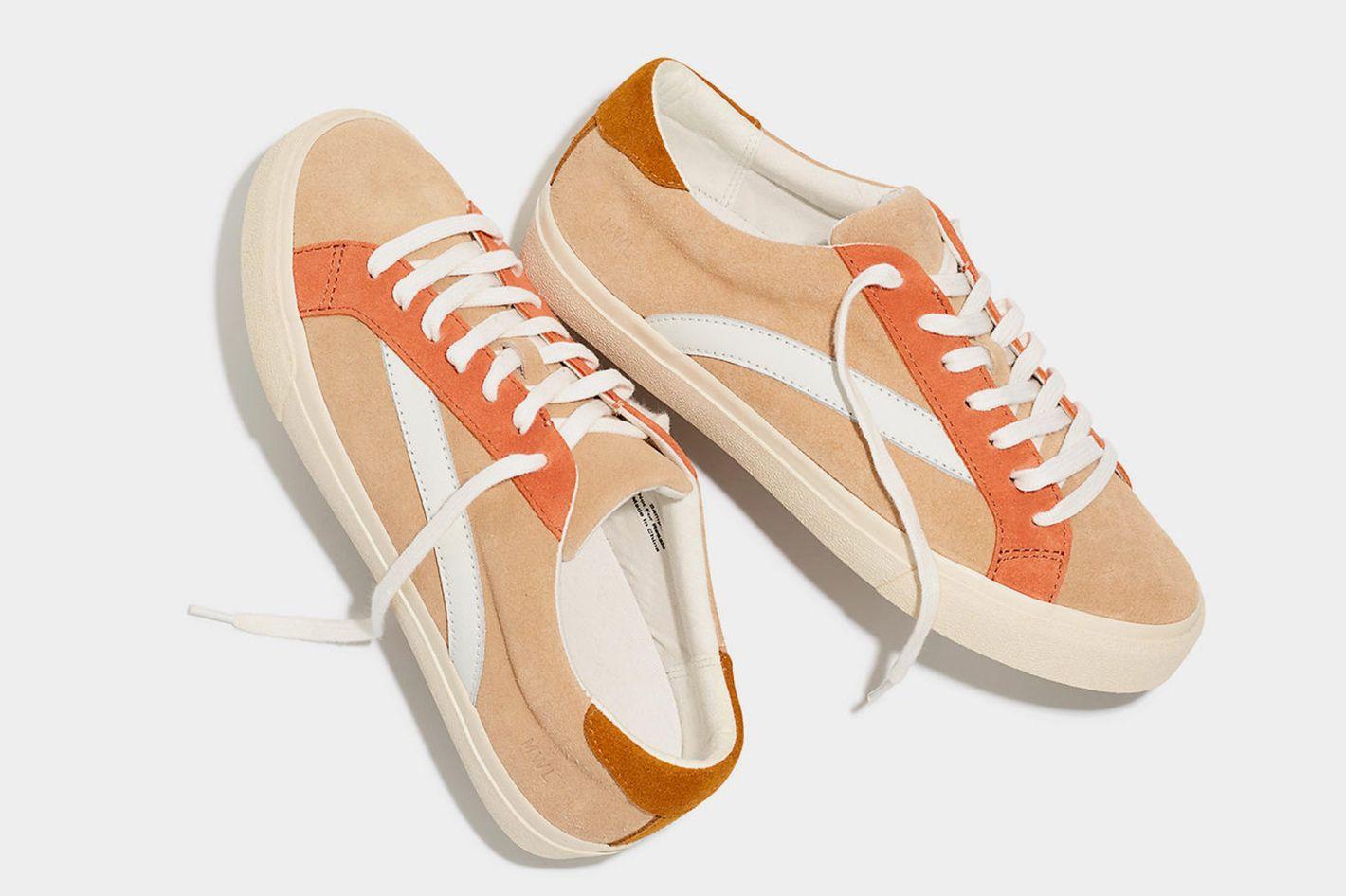Madewell Sidewalk Low-Top Sneakers in Colorblock Suede