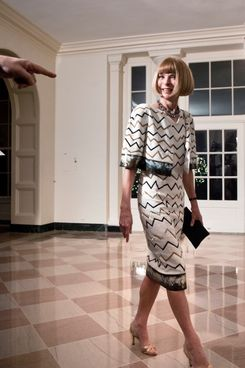 Anna Wintour at the White House.