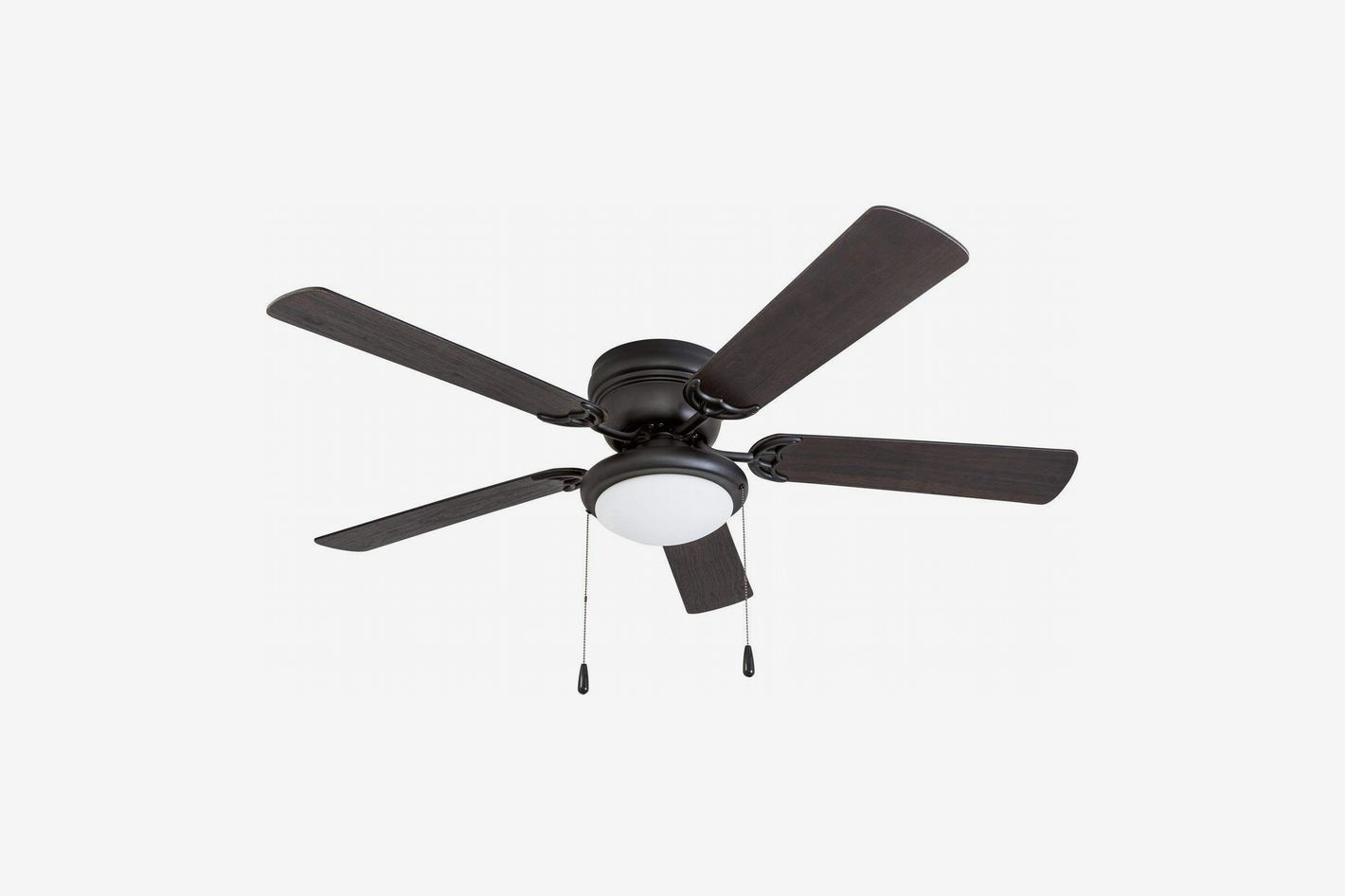 Portage Bay 50251 West Hill Ceiling Fan With Bowl Light Kit Matte Black 52