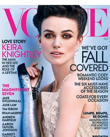Keira Knightley for October Vogue.