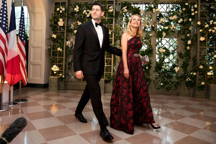 Speaker of the House Paul Ryan and his wife Janna Ryan.