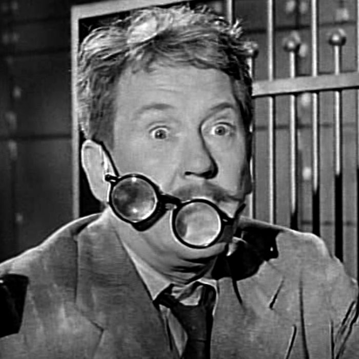 LOS ANGELES - NOVEMBER 20: Burgess Meredith as Henry Bemis in THE TWILIGHT ZONE episode,