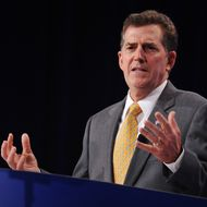 US Senator Jim DeMint, R-SC, speaks during The Family Research Council (FRC) Action Values Voter Summit September 14, 2012 at a hotel in Washington, DC. The summit is an annual political conference for US social conservative activists and elected officials.