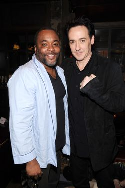 "NEW YORK, NY - APRIL 16:  Lee Daniels and John Cusack attend ""The Raven"" New York Red Carpet Screening After Party Presented By DeLeon Tequila at The VAULT on April 16, 2012 in New York City.  (Photo by Dimitrios Kambouris/Getty Images For Relativity Media)"
