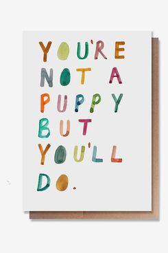 Wunderkid Not a Puppy Valentine's Day Card