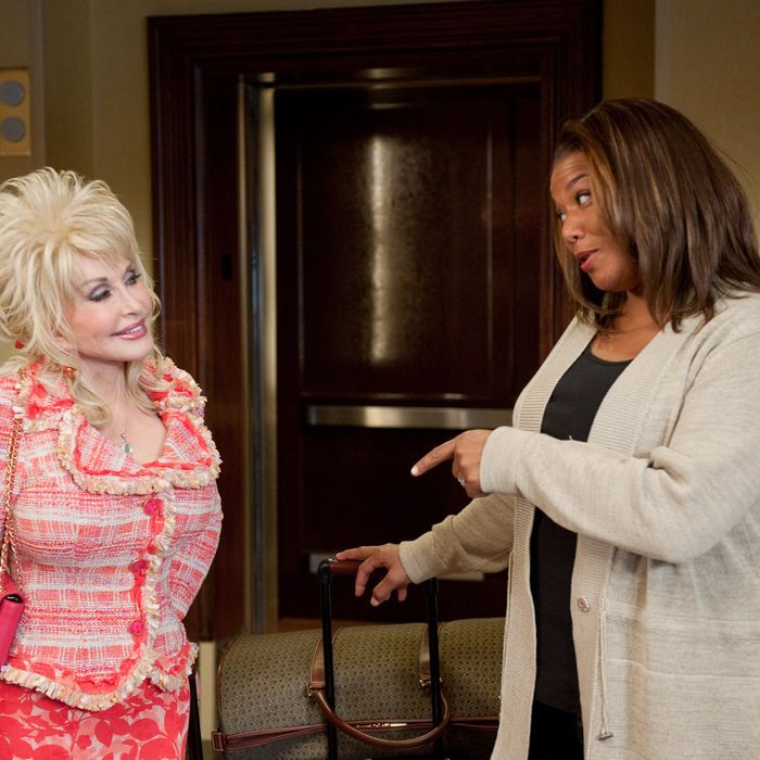 (L-r) DOLLY PARTON as G.G. Sparrow and QUEEN LATIFAH as Vi Rose Hill in Alcon Entertainment's