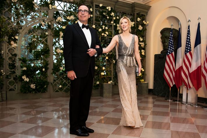 Treasury Secretary Steven Mnuchin and Louise Linton.