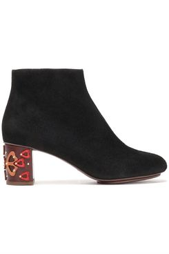 See by Chloé Isida Embellished Suede Ankle Boots