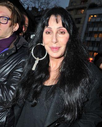 Cher arrives at Gareth Pugh.