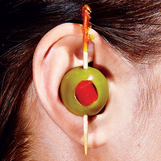 What? What? I have an olive in my ear!