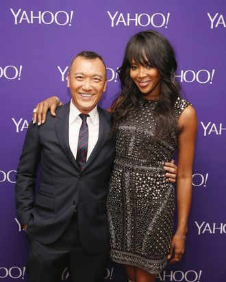 Joe Zee and Naomi Campbell.