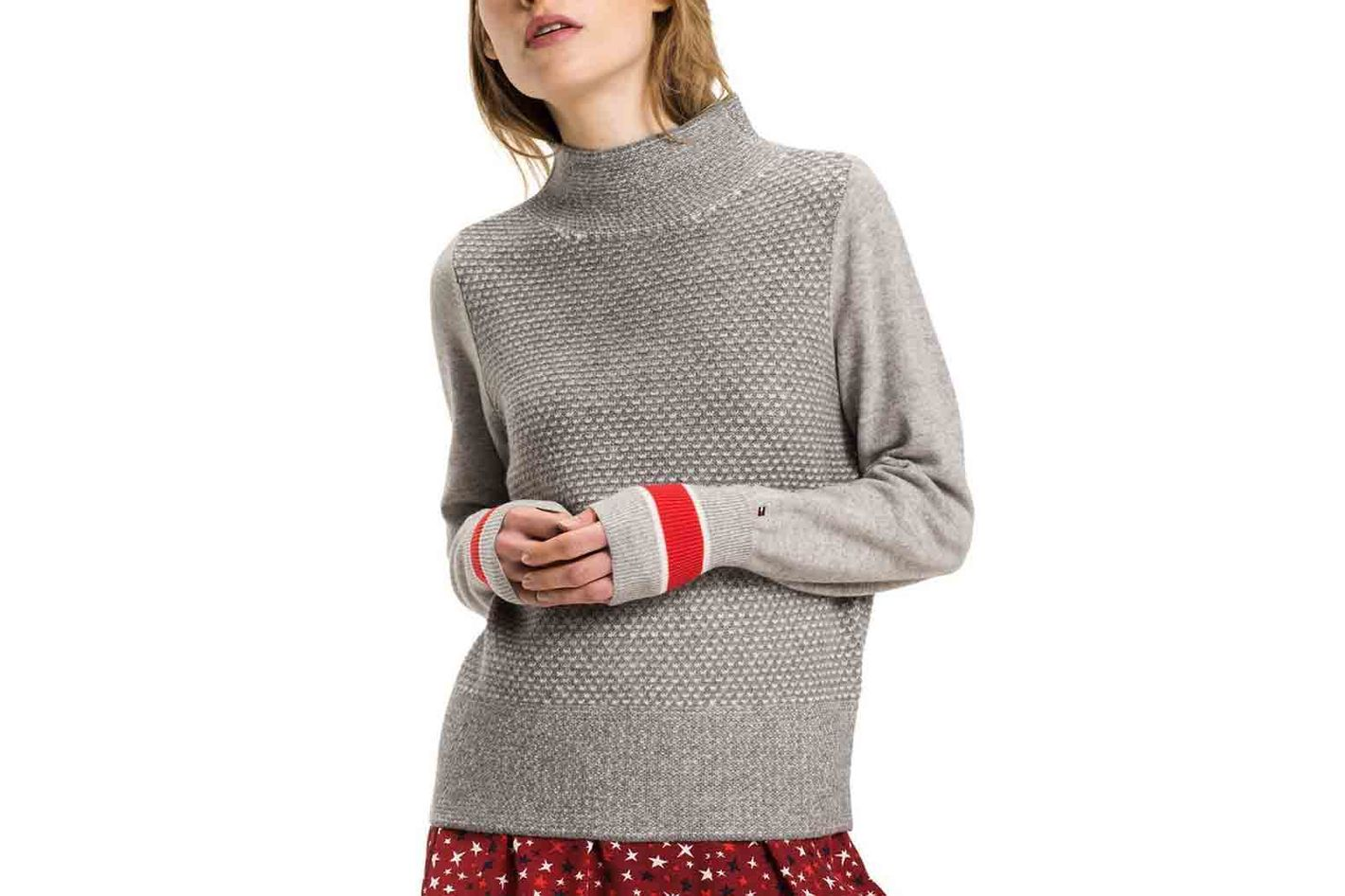 Tommy Hilfiger Wool Cashmere Mock-Neck Sweater