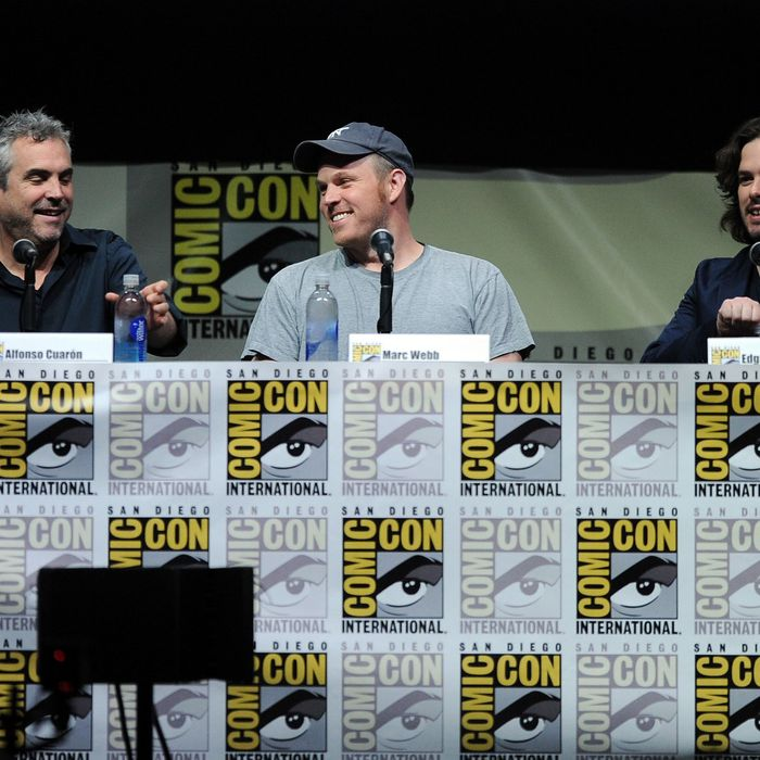 Filmmakers Alfonso Cuaron, Marc Webb, and Edgar Wright speak onstage at Entertainment Weekly's