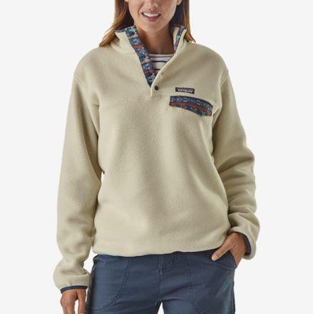 cream patagonia womens snap t fleece - strategist rei winter sale