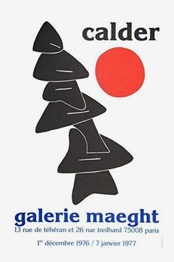 "Alexander Calder ""Stabiles Noires"" Lithograph"