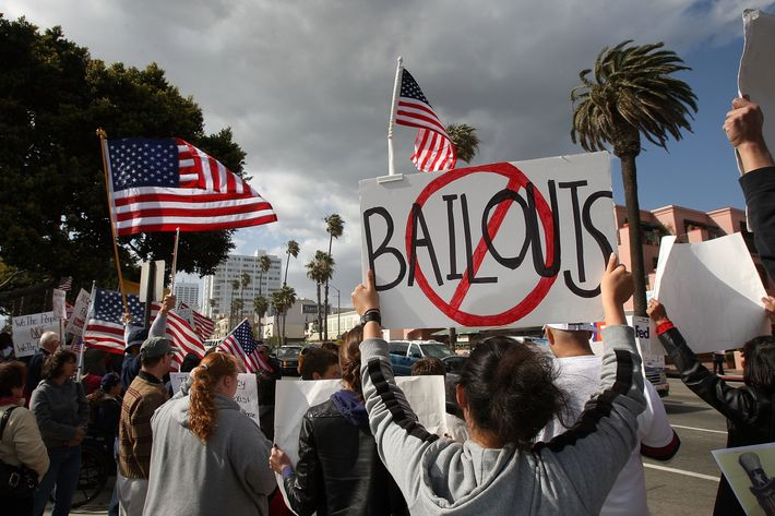 SANTA MONICA, CA - APRIL 15:  Demonstrators gather at an American Family Association (AFA)-sponsored T.E.A. (Taxed Enough Already) Party to protest taxes and economic stimulus spending on the last day to file state and federal income tax returns, April 15, 2009 in Santa Monica, California. The protesters say that taxes and government spending are too high while the Obama administration contends that it is lowering taxes for 95 percent of the population and using stimulus money to save the nation from economic collapse. Several T.E.A. or Tea Party rallies are being held in southern California, a play on the name of the 1773 Boston Tea Party tax revolt in which disgruntled Americans rebelled against British colonial taxation. The American Family Association is a conservative Christian political activist group focusing on what it views as negative liberal influences of television, abortion rights, gay rights, pornography, and premarital sex. The group also owns 180 American Family Radio stations in 28 states.  (Photo by David McNew/Getty Images)