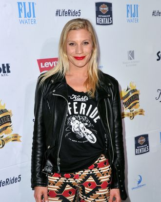 NEW YORK, NY - AUGUST 12: Actress Katee Sackhoff attends Kiehl's LifeRide for amfAR co-hosted by FIJI Water on August 12, 2014 in New York City. (Photo by Stephen Lovekin/Getty Images for FIJI Water)