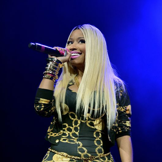 NEW YORK, NY - NOVEMBER 02:  Rapper Nicki Minaj performs onstage at Power 105.1's Powerhouse 2013, presented by Play GIG-IT, at Barclays Center on November 2, 2013 in New York City.  (Photo by Mike Coppola/Getty Images for Clear Channel)