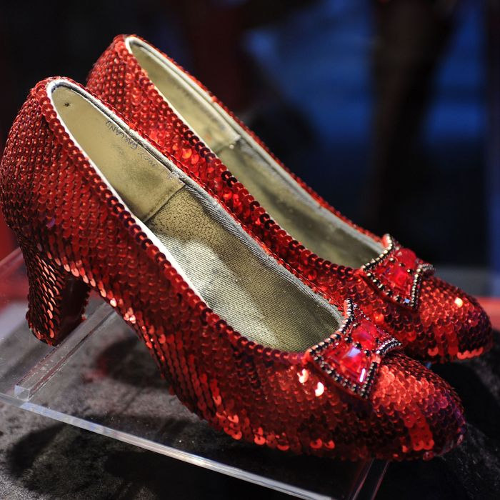 Judy Garland's ruby red slippers.