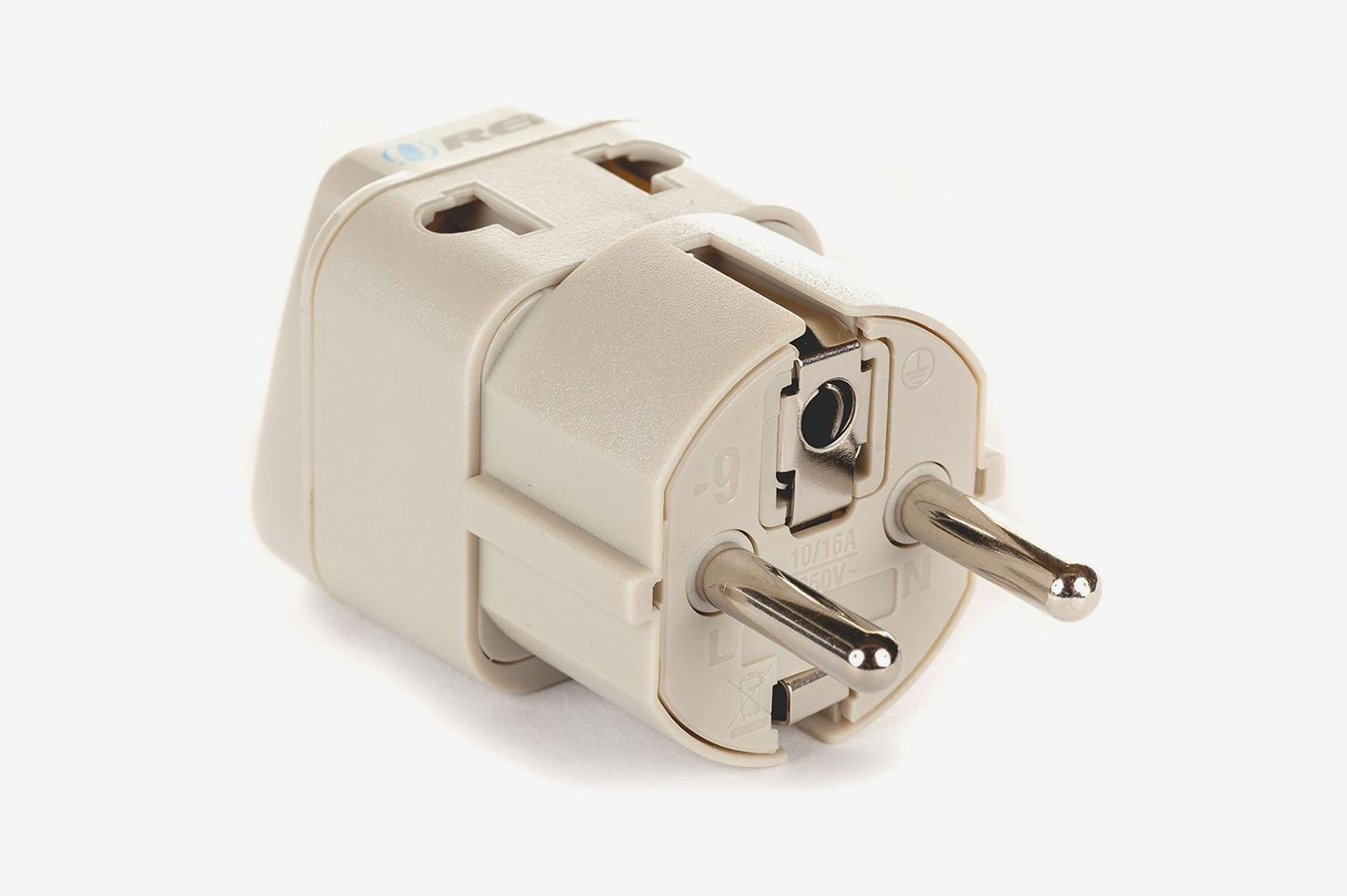 OREI European Plug Adapter Schuko Type E/F for Germany, France, Europe, Russia