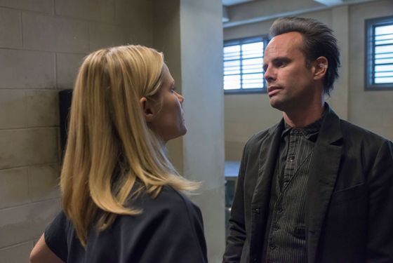 JUSTIFIED -- Good Intentions -- Episode 503 (Airs Tuesday, January 214, 10:00 pm e/p) -- Pictured: (L-R)  Joelle Carter as Ava Crowder, Walton Goggins as Boyd Crowder -- CR: Prashant Gupta/FX