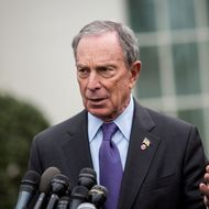 New York City Mayor Michael Bloomberg speaks to the media outside the West Wing of the White House after meeting with Vice President Joe Biden, February 27, 2013 in Washington, DC. Vice President Biden and Mayor Bloomberg discussed the Obama administration's proposals to reduce gun violence. Bloomberg was also scheduled to meet with lawmakers on Capitol Hill today.