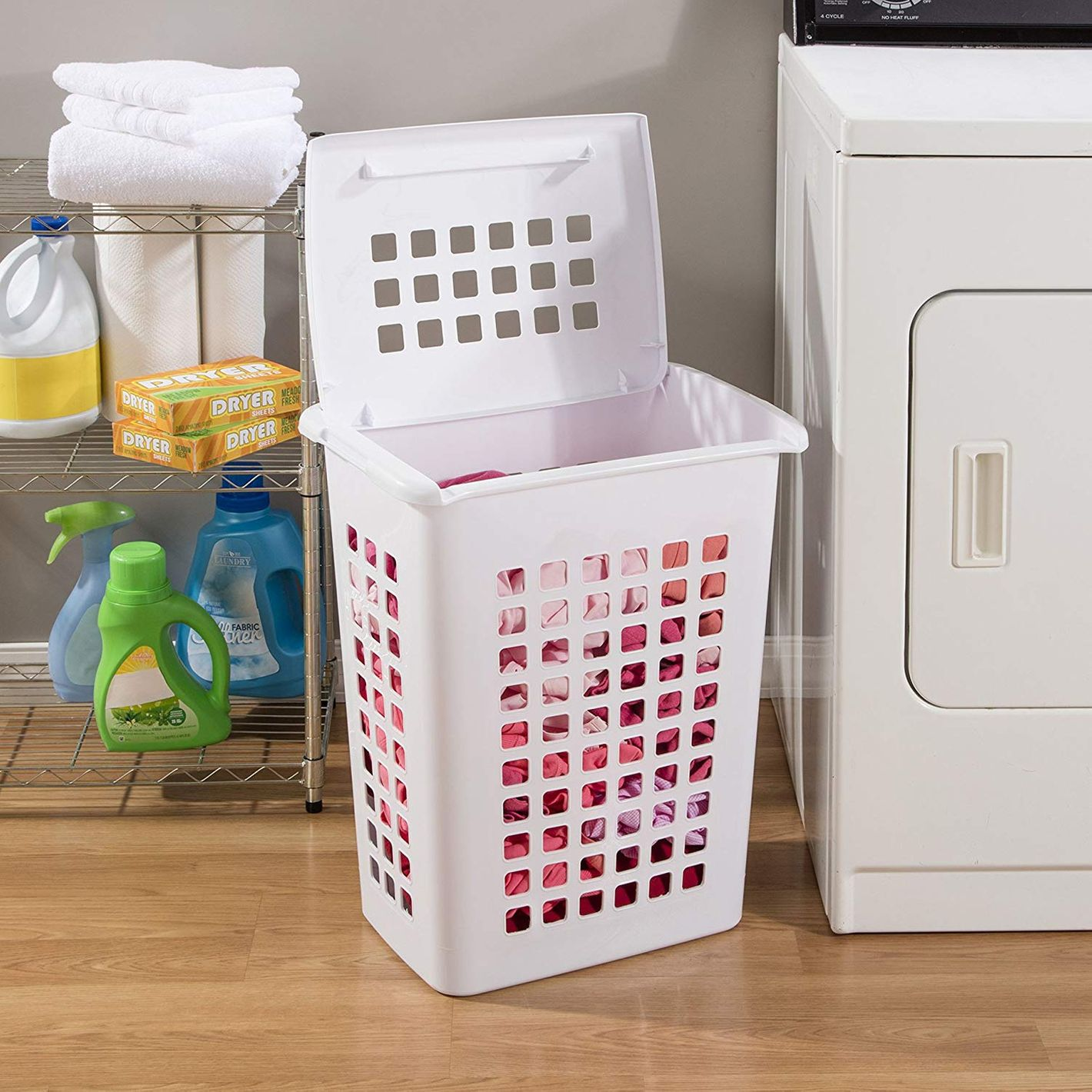 Sterilite Rectangular LiftTop Laundry Hampers